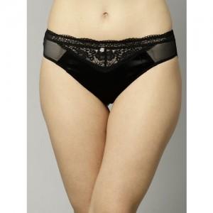 Marks & Spencer Women Black Lace Bikini Briefs T816355L