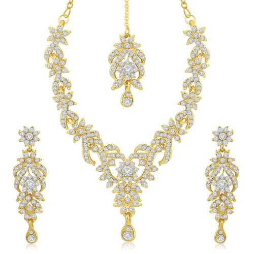Sukkhi Gold Plated Alloy Necklace Set