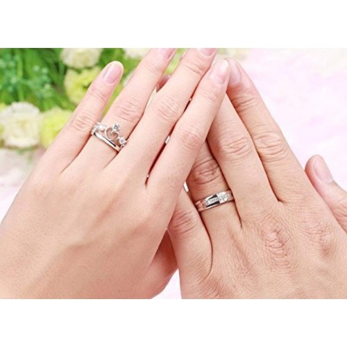 OSW Silver Plated Imperial Crown Adjustable Ring