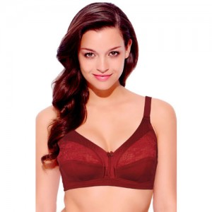 Enamor 3 Sectioned Super Support Wirefree Bra- Red