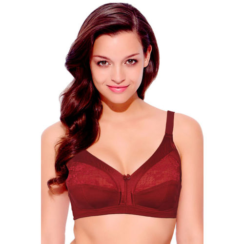 6f036c4636 Buy Enamor 3 Sectioned Super Support Wirefree Bra- Red online ...