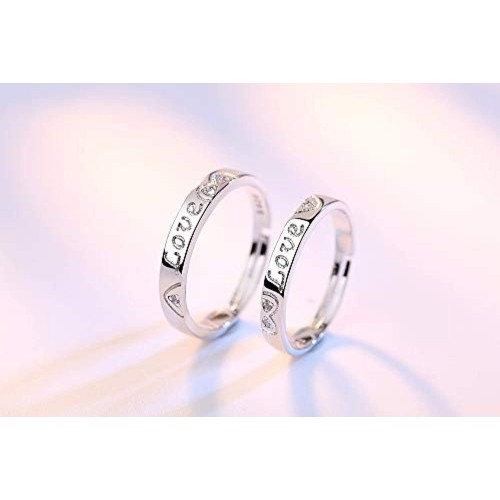 Crunchy Fashion Couple Gold Metal Stainless Steel Ring Set