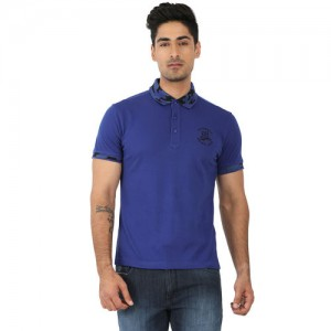 John Players Blue Slim Fit Polo T Shirt 92e37f90823