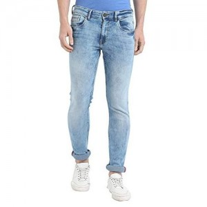 TURMS Stain Repellent & Anti Odour Ice Blue The Innovator Slim-Fit Jeans