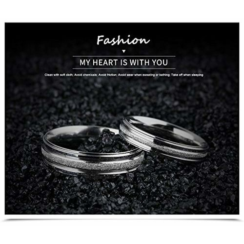 Yellow Chimes Stardust Steel Couple Rings 2 PC Set Ring for Women (Silver)(YCFJCR-094SRH-SL)