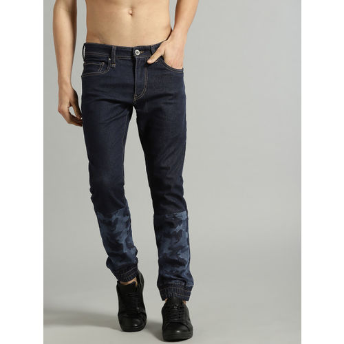 Roadster Men Navy Blue Slim Jogger Fit Mid-Rise Clean Look Stretchable Joggers