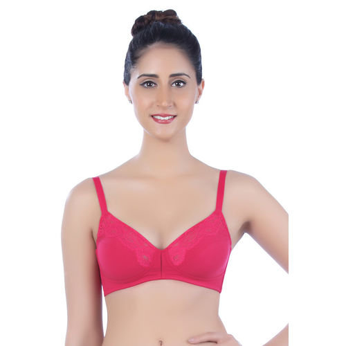 Triumph Lace Embellished Laminated Cup Wirefree Bra- Pink