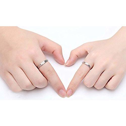 19 Likes SILVER brass Couple ring for Men & Women