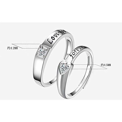 GirlZ! Girlz! Silver Titanium Couple Ring For Women & Men