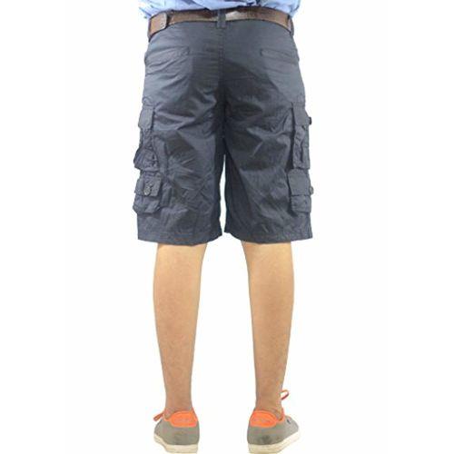 AERO CRAFT Men's 9-Pocket Cotton Cargo Shorts