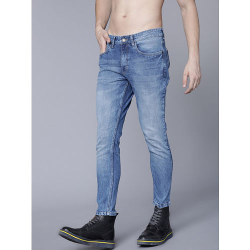 HIGHLANDER Men Blue Tapered Fit Mid-Rise Clean Look Stretchable Jeans