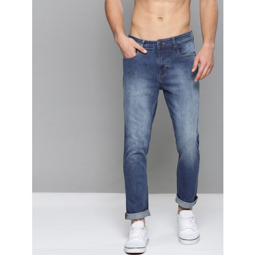 Kook N Keech Men Blue Regular Fit Mid-Rise Clean Look Stretchable Jeans