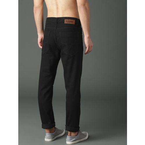 Roadster Men Black Slim Fit Mid-Rise Clean Look Jeans