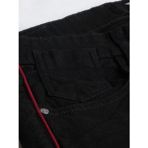 Kook N Keech Star Wars Men Black Skinny Crop Fit Mid-Rise Clean Look Jeans