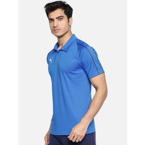 Puma Blue Slim Fit FINAL Sideline Polo T-Shirt