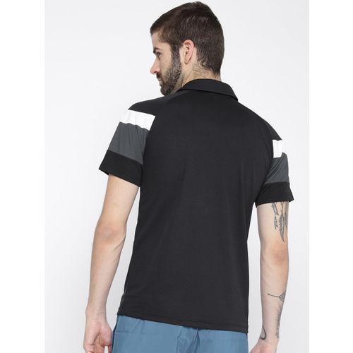 Puma Black & Charcoal Grey Colourblocked Spirit II Polo Football T-shirt