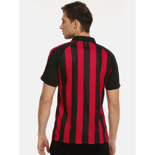 Puma Men Black AC Milan HOME Striped T-shirt