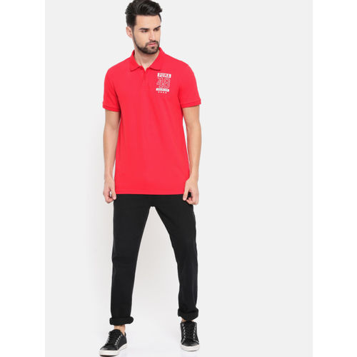 Puma Men Red Mns Graphic Pique Polo VIII Printed T-shirt