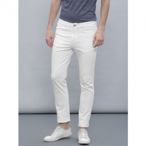ether Men White Slim Fit Jeans
