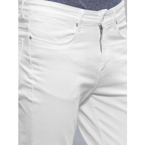 ether Men White Slim Fit Jeans