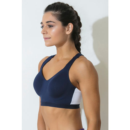 8e6297f019 Buy Zelocity Zivame Decode Collection High Impact Sports Bra - Blue ...