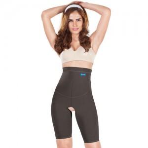 Dermawear High Control High Rise Thigh Shaper- Black