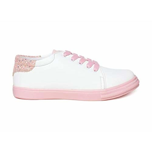 VENDOZ  Stylish Casual Pink Sneakers