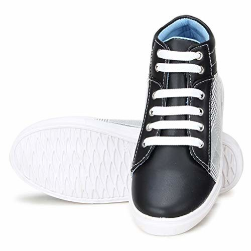 FASHIMO Black Lace Up Casual Shoes