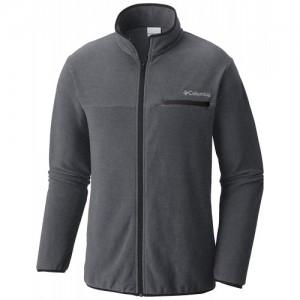 Columbia Grey  Polyester Full Sleeve Full Zip Jacket