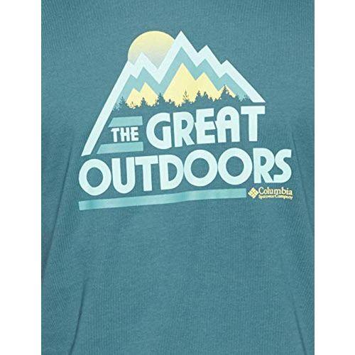 Columbia Men's Solid Regular Fit T-Shirt (JO0020_Poseidon_M)
