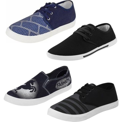 World Wear Footwear Multicolor Combo-(4)-692-690-349-725 Loafers For Men(Multicolor)