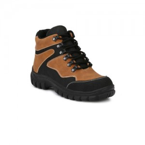 99fc5b87a0a Eego Italy Men Brown Solid Synthetic Leather Mid-Top Trekking Shoes