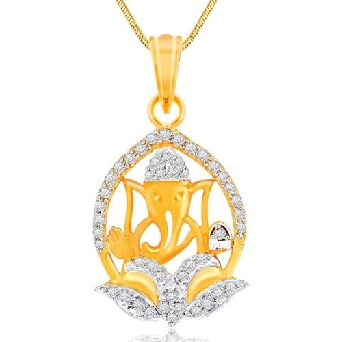 Buy Spargz Spiritual Ganesh Studded Yellow Gold NAK Brass