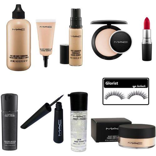 glorist eyelashesh & Mac Professional Good Beauty Combo Makeup Kit(Set of ...