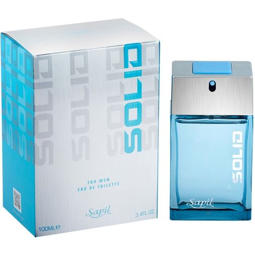Sapil Solid Blue EDT Perfume For Men (Imported From U.A.E) Eau de Toilette - 100 ml(For Men)