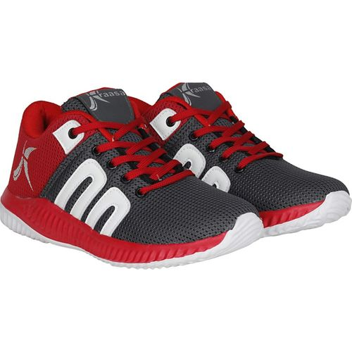 Kraasa Sports Running Shoes For Men(Grey, Red)