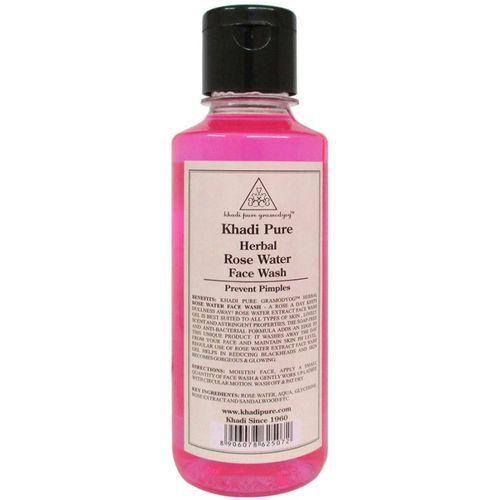 Khadi Pure Herbal Rose Water Face Wash(210 ml)