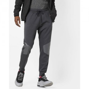 Proline Mens MID Grey Slim Fit Lifestyle Joggers with Print at Knee Level