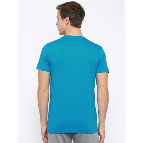 Puma Men Blue Sneaker Lines Printed Slim Fit T-shirt