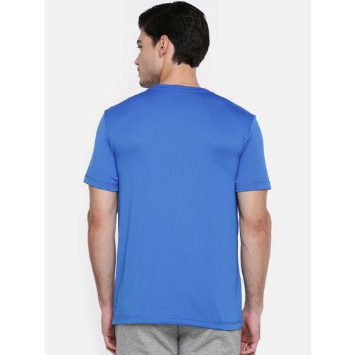 Puma Men Blue ESS Active Printed DRY CELL Round Neck T-shirt