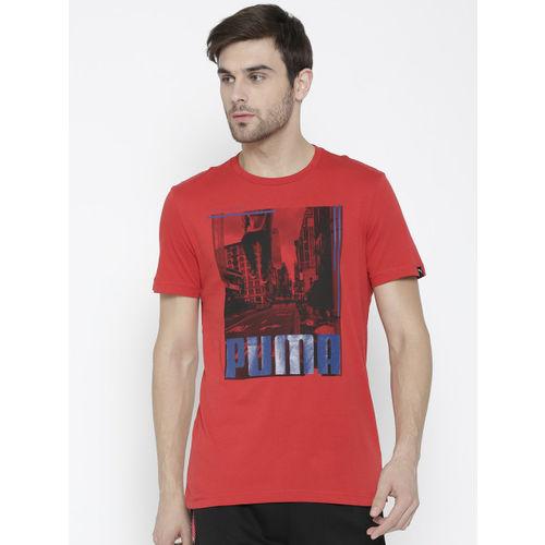 079008e0 Buy Puma Men Red City Photo Printed Round Neck T-shirt online ...