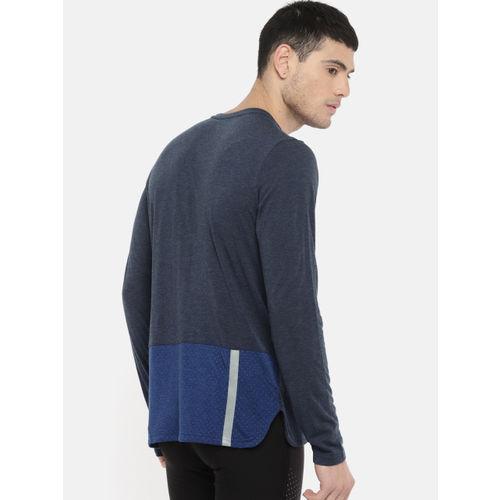 Puma Men Navy Blue Colourblocked Round Neck Warming T-shirt