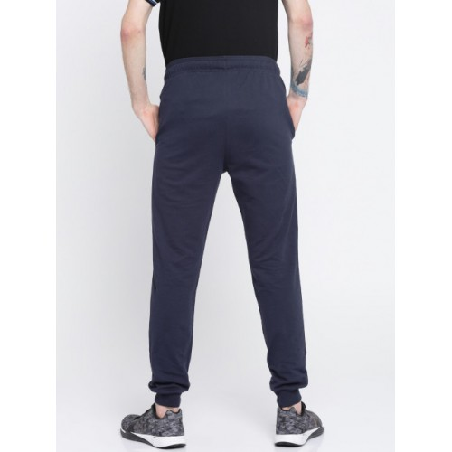 Kappa Men Navy Blue Cotton Slim Fit Joggers