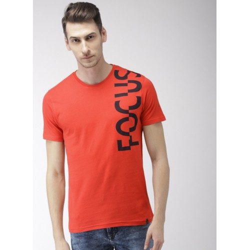 Kappa Red Cotton Printed Round Neck T-Shirt