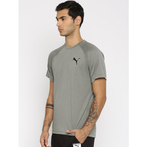Puma Men Grey Dri-Release SS Solid T-shirt