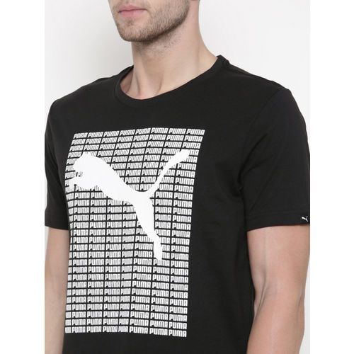 Puma Men Black Repeat T-shirt