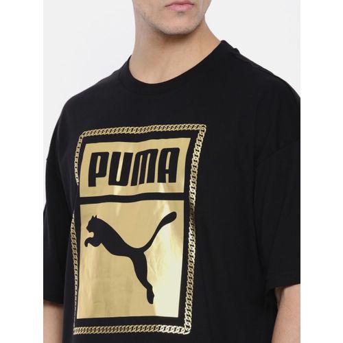 Puma Men Black Printed Chains Tee T-shirt