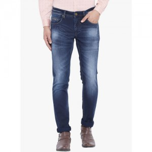 Canary London Men Blue Skinny Fit Mid-Rise Clean Look Stretchable Jeans
