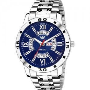 Abrexo ABX8099-BL BLUE DAIL Day & Date Feature Watch - For Men