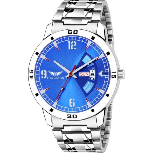 Lois Caron LCS-8093 BLUE DIAL DAY & DATE FUNCTIONING Watch - For Men